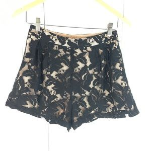 ☀️2 for $30 sale Black lace shorts with tan lining
